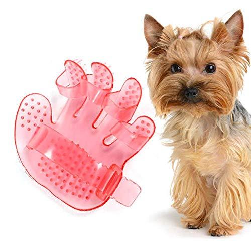 QIaoY Massagebürste in Handform, für Hunde, Massagegerät, Waschen, Haarkamm, Shampoo, Dusche, Bad, Reinigungszubehör, bequemes Massagegerät, Reinigungsgerät, Reinigungsbürste, Hundebürste M rot