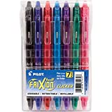 PILOT FriXion Clicker Erasable, Refillable & Retractable Gel Ink Pens, Fine Point, Assorted Color Inks, 7-Pack Pouch (31472)