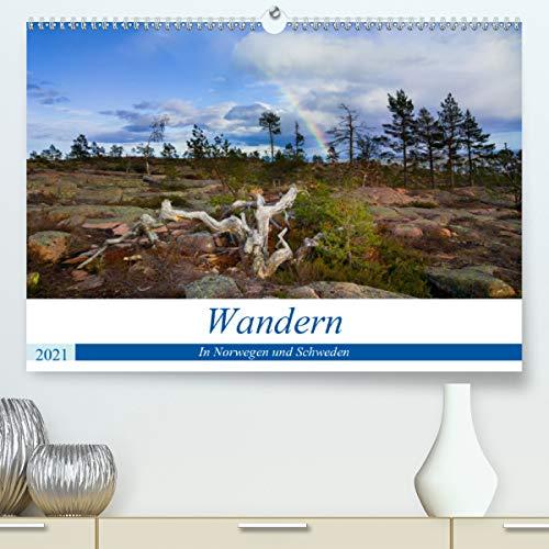 Wandern - In Norwegen und Schweden (hochwertiger DIN A2 Wandkalender 2021, Kunstdruck in Hochglanz)