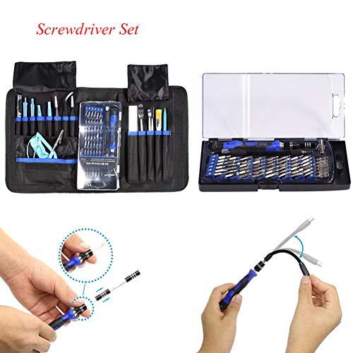 Reparatie Opening Tool Kit, 80 in 1 Elektronische Opening Reparatie Handgereedschap Kit Schroevendraaier Set voor Telefoon Laptop PC, met een Draagbare Opbergtas