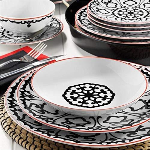 Kütahya Porselen Zeugma - Vajilla (24 Piezas, 6 Personas), Color Negro