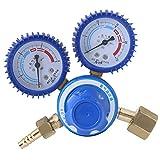 Reductor de presión de oxígeno - 1pc Regulador de latón Reductor de presión de oxígeno Calibrador doble 0-25MPa Corte de soldadura