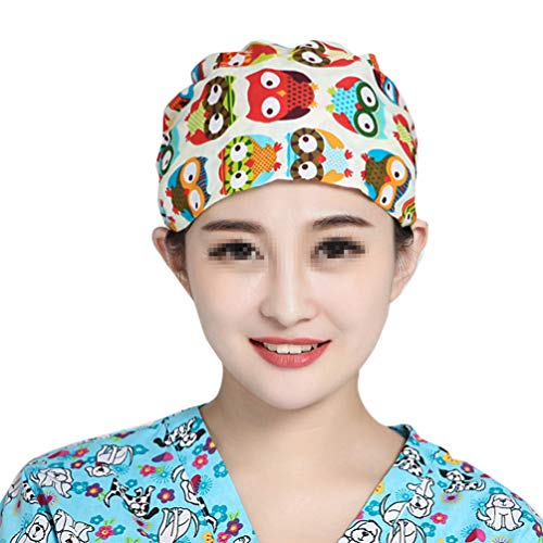 PRETYZOOM Gorro Quirúrgico Gorro Quirúrgico Matorral Médico Gorro de Turbante Gorro Turbante Patrón Búho Gorro Médico Gorro para Hospital Médico Enfermera