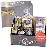 Gepp's Feinkost Geschenkbox Verwöhnpaket | Geschenkkorb zu Weihnachten, gefüllt mit köstlichen Delikatessen, hergestellt nach eigener Rezeptur | Gourmet-Geschenk für Frauen zum Geburtstag (A0002)