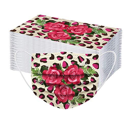 HEnri 50/100 Stück Einmal-Mundschutz mit Schmetterling, Staubschutz Atmungsaktive Mundbedeckung, Erwachsene, Bandana Face Cover Sommerschal