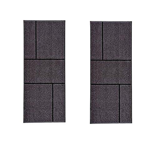Ikea Koge - Zerbino per corridoio, colore: Grigio, Nero [L: 17,8 x 20,3 cm
