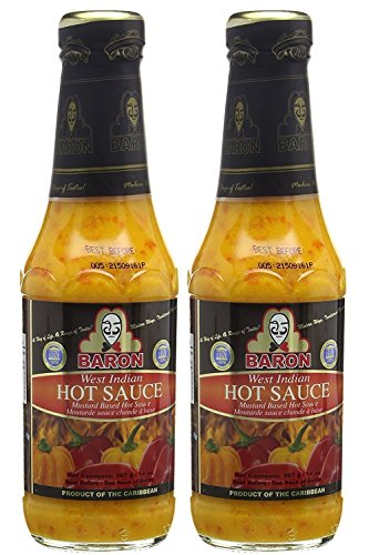 Baron West Indian Hot Pepper Sauce 14oz (Pack of 2)