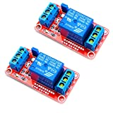 HiLetgo 2pcs DC 24V 1 Channel Relay Module with OPTO Isolation Support High or Low Level Triggle