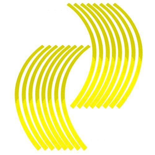 Elerose Ribete de borde de raya de 16 ruedas Adornos para au