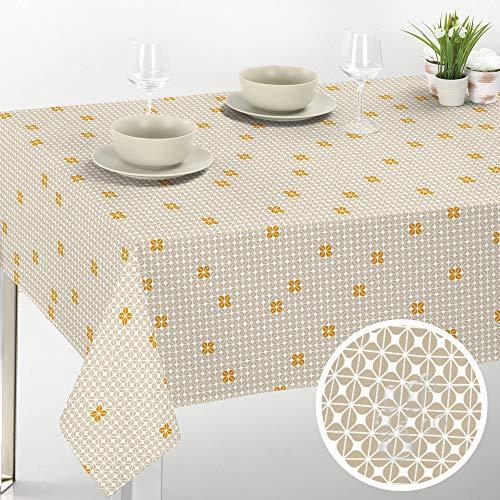 Viste tu hogar Mantel PVC para Mesa, 140x200 CM, Impermeable y Resistente, Ideal para la Decoración de Mesa y Fechas Especiales, Apto para Exteriores, Diseño Flores