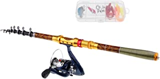 Perfeclan Fishing Rod Combos with Spinning Reels Lures Carrier Bag