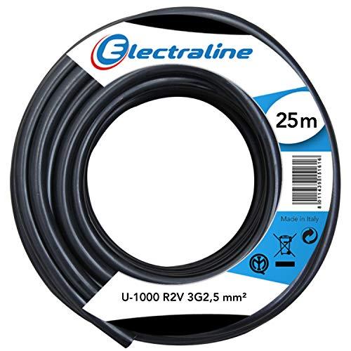 3G1.5 mm/² Electraline 01647 Prolongador Toma schuko Cable 10 m Color Blanco