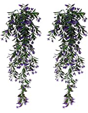 SPTwj 2 Pack Artificial Ivy Vine Artificial Plants Fake Ivy Hanging Home Office Outdoor Indoor Decor Total length of about 77 cm Purple