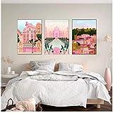 Italia Positano Pisa Lisboa Barcelons cartel de construcción Rosa Moscú impresión lienzo pared arte pintura decoración imagen