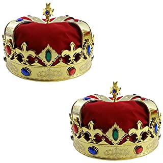 عرض Funny Party Hats Royal Jeweled King's Crown - Costume Accessory