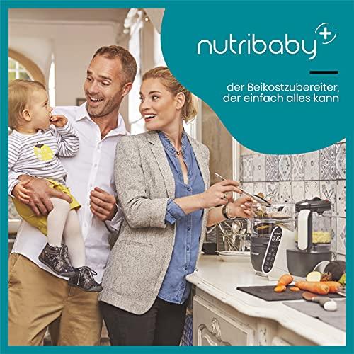 Babymoov Nutribaby Plus industrial grey – Babynahrungszubereiter, schonendes Dampfgaren, Mixen, Sterilisieren, Aufwärmen, 2200ml Fassungsvermögen - 2
