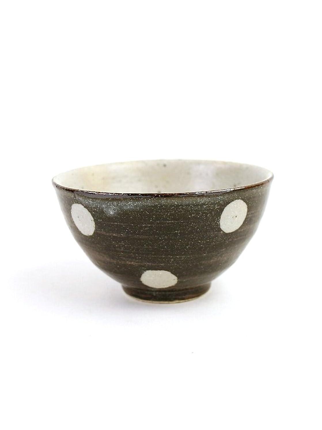 ボルト原因商品(スタジオエム) studio m'陶器お茶碗水玉MサイズMIZUTAMARB-M?273