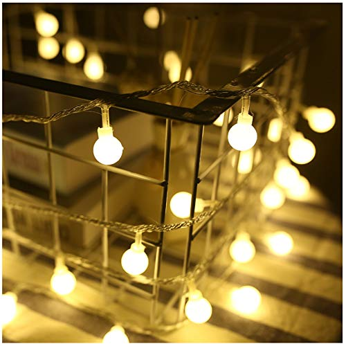 LED Fairy String Lights, Gsogcax 6m/20ft 40 LEDs Globe String Lights Battery Operated, Decorative Lights for Bedroom Curtain Engagement Wedding Party