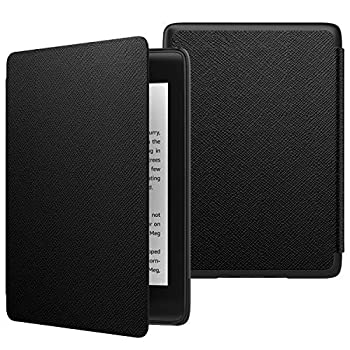 MoKo Case Fits Kindle Paperwhite  10th Generation 2018 Releases  Thinnest Lightest Smart Shell Cover with Auto Wake/Sleep for Amazon Kindle Paperwhite 2018 E-Reader - Black
