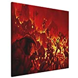 Doom 2016 Alternate Cover Home Bedroom Decor Wall Art Canvas Prints Artwork Painting Pictures 16'X16'