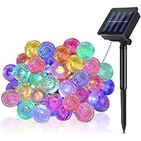Greenclick 25.7FT 8 Modes IP65 Waterproof Solar Crystal Ball String Lights