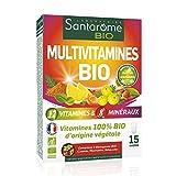 Santarome Bio Multivitamines Bio | Complément Alimentaire Vitalité Bio | 15 Comprimés | Programme 15 Jours