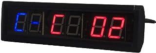 Fitness Training Timer LED Digital Countdown väggklocka Intervall Timer Fitness Timer Fitnesstudio Väggmontering (färg: Sv...
