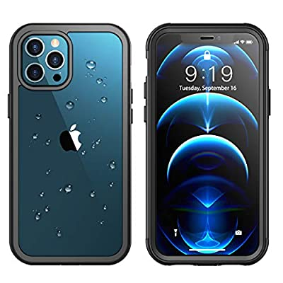"""Temdan for iPhone 12 Pro Max Case 6.7"""", 361° Protect Built in Screen Protector with Premium Composites Shockproof Dustproof Anti-Scratch Clear Case for iPhone 12 Pro Max 6.7 inch-2020"""