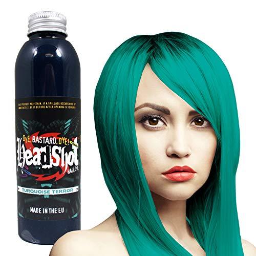 Türkise Haarfarbe Headshot Turquoise Terror, Semi-permanente Haartönung 150 ml