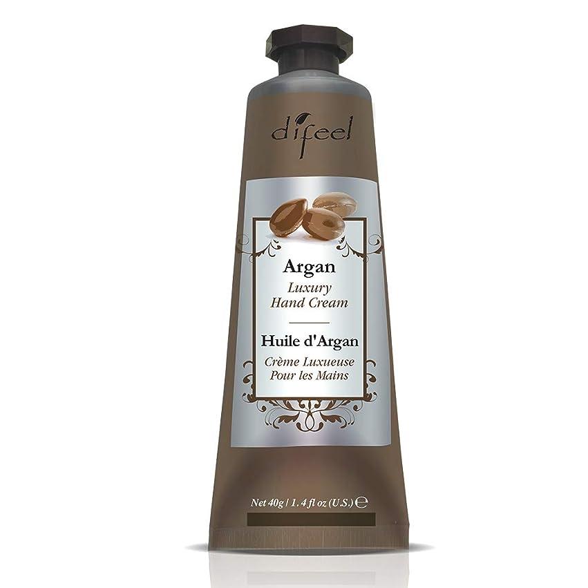 小競り合いスカーフ不振Difeel(ディフィール) アルガン ナチュラル ハンドクリーム 40g ARGAN 12ARG New York 【正規輸入品】