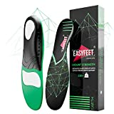 {New 2021} 220+ lbs Plantar Fasciitis Strong Arch Support Insoles Inserts Men Women - Flat Feet - Orthotic Insoles High Arch for Arch Pain - Work Boot Shoe Insole - Heavy Duty Support Pain Relief