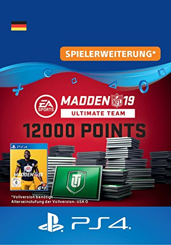 Madden NFL 19 Ultimate Team 12000 Points Pack - 12000 Points DLC | PS4 Download Code - deutsches Konto