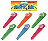 Bag Of 6 Kazoos 11cm (Assorted Colours) by Henbrandt