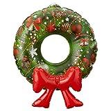 'PRECIO en el mango® Decoración navideña hinchable 'Puerta Corona para colgar