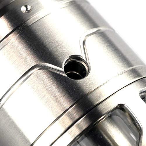 VapeFly Brunhilde MTL RTA Clearomizer 5 ml, Durchmesser 23 mm, Verdampfer für e-Zigarette, schwarz