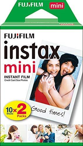 Fujifilm Instax Mini Instant Film, 2x 10 Blatt (20 Blatt), Weiß