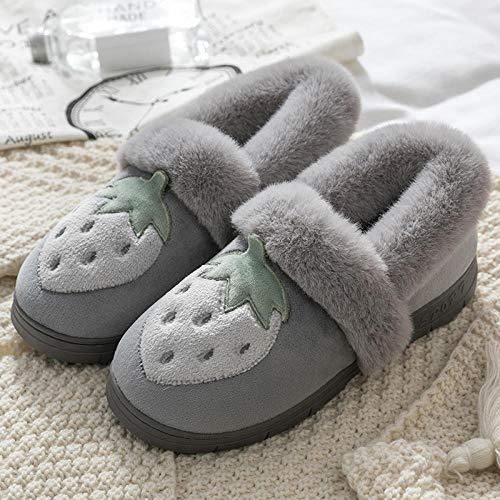 zapatillas de estar por casa divertidas,Zapatillas calefactadas para mujeres, otoño e invierno femenino Bolso lindo con pareja Zapatillas de felpa de interior para el hogar, zapatillas de microondas