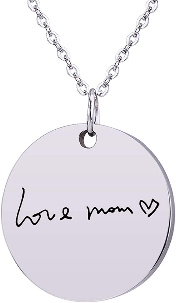 Valyria Personalized Max We OFFer at cheap prices 53% OFF Memorial Signature Custom Necklace Actual H