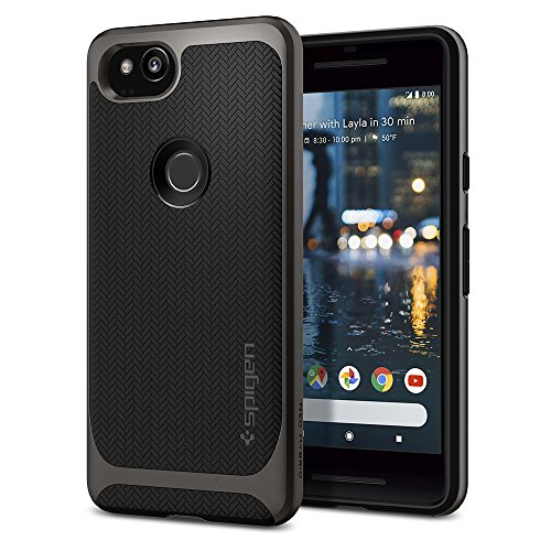 Spigen Neo Hybrid Designed for Google Pixel 2 Case (2017) - Gunmetal