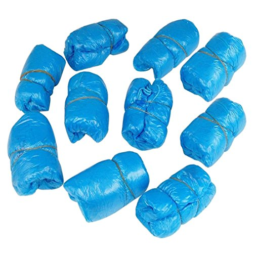 TOOGOO?R? TOOGOO(R) 200x ueberschuhe Schuhueberzieher Blau Einwegschuhe Einmalschuhe Schutzschuhe