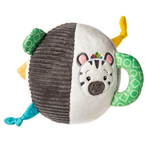 Mary Meyer Baby Einstein First Discoveries Chime Ball Soft Toy, 6-Inches, Zen Zebra