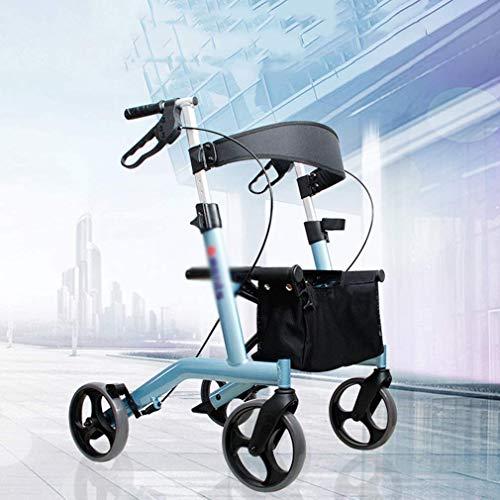 Qucasyl Roll Walker aufrechte Haltung faltbar, Drive Medical Four Wheel Walker Rollator, Compact Roll Walker - Rollator für Senioren Gebrauchte Schreit, Blau