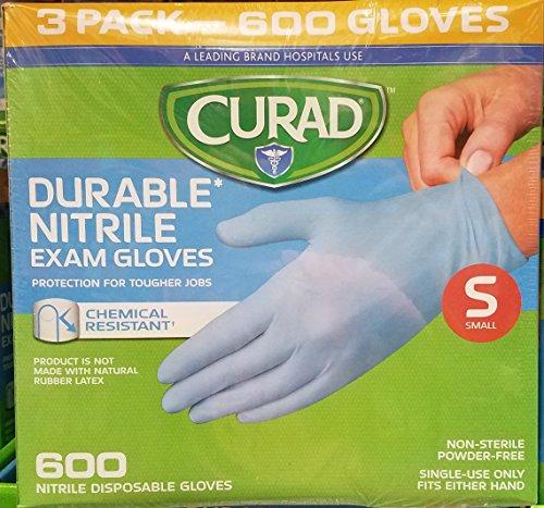 Powder Free, Latex Free, Medical Grade, Exam Glove (Nitrile) Qty. 600 Small