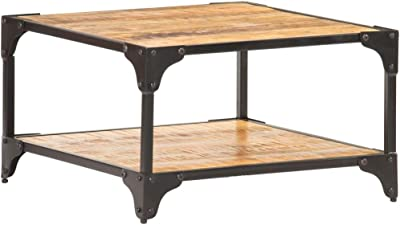 """Coffee Table, End Table Sofa Table Coffee Table 23.6""""x23.6""""x13.8"""" Solid Mango Wood"""