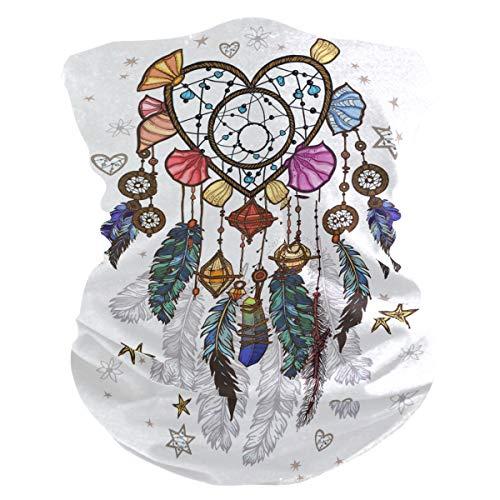 Funnyy Feathers Mandala Boho Headwear Cubrepañuelo para el cuello, bufanda, pañuelo bandana, pasamontañas, cubierta para el polvo, sin costuras, mágico, pañuelo para la cabeza, multifuncional, diadema para deportes al aire libre