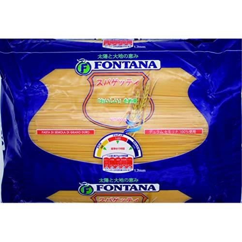 FONTANA お徳用 スパゲッティ 1.7mm 4KG / コシが強く 風味豊かな デュラム小麦 セモリナ100%使用 ギリシャ産 / 2年 長期保存 パスタ スパゲティ