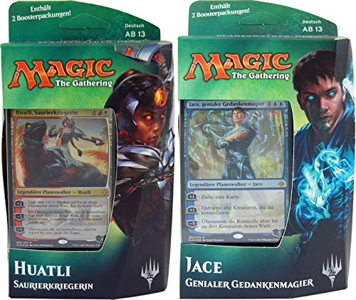 Ixalan - Planeswalker Deck deutsch - MTG Magic The Gathering, Deck:Deck Set (Jace + Huatli)