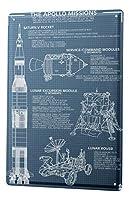 なまけ者雑貨屋 Fun Ravtive Apollo Of Missions ブリキ看板 ポスター BARインテリア雑貨 壁飾り レトロなデザインボード ポストカード サインプレート 【20×30cm】