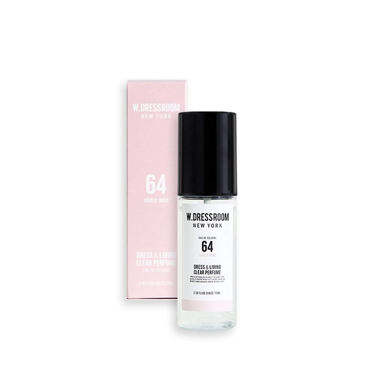 W.DRESSROOM Dress & Living Clear Perfume fragrance 70ml (#No.64 Lovely Rose)/ダブルドレスルーム ドレス&リビング クリア パフューム 70ml (#No.64 Lovely Rose)