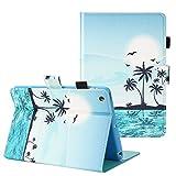 TKOOFN Case for iPad Mini 1/2/3, Flip Smart Kickstand Case with Auto Sleep/Wake Synthetic Leather Wallet Cover for Apple iPad Mini 1/2/3,Sunrise